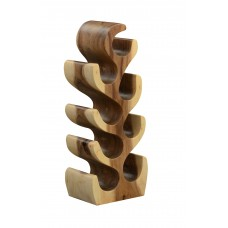 8 Bottle Sculpturer Wood Wine Rack