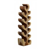 12 Bottle Sculptured Wood Wine Rack