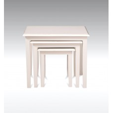Nest of Tables Minimalist Style - French Ivory
