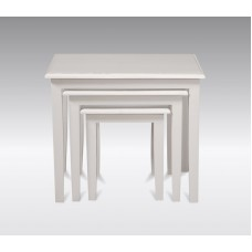 Nest of Tables Minimalist Style - French White