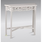 Console Table Lattice style in French White