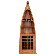 Solid Teak Dinghy Wine Bar
