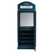 Drinks Cabinet - Iconic BT Telephone Box Style Bar in Haigh Blue