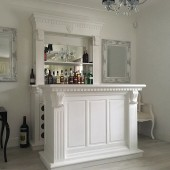 Chateaux Bar Cabinet Set - French White