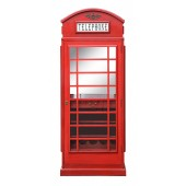 Drinks Cabinet - Iconic BT Telephone Box Style Bar in Pillar Box Red