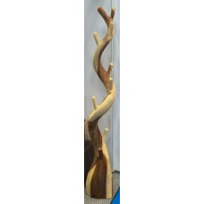 Sculptured Tree Trunk  Coat Rack with Tree Root Base